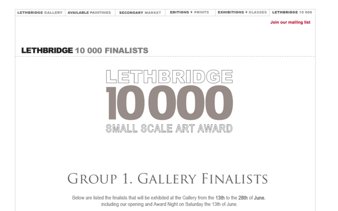 Lethbridge Small Scale Art Award